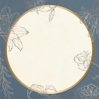 Style vintage de motif floral cadre doré