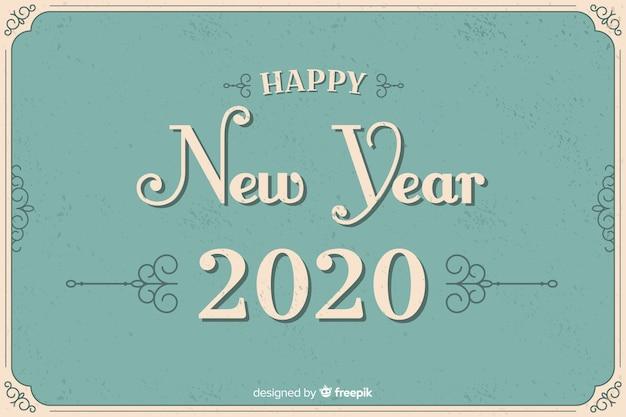 Style vintage nouvel an 2020
