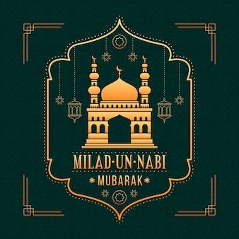 Style de voeux d'événement islamique mawlid