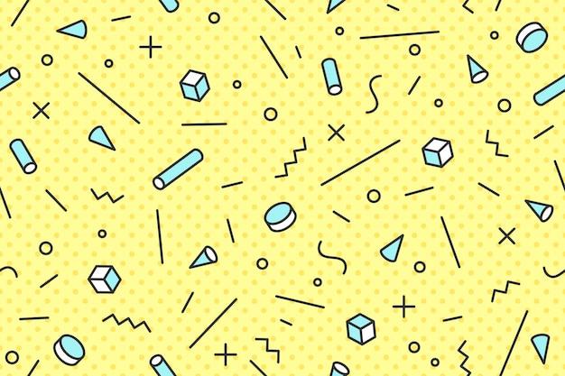 Styles tendance transparente motif graphique