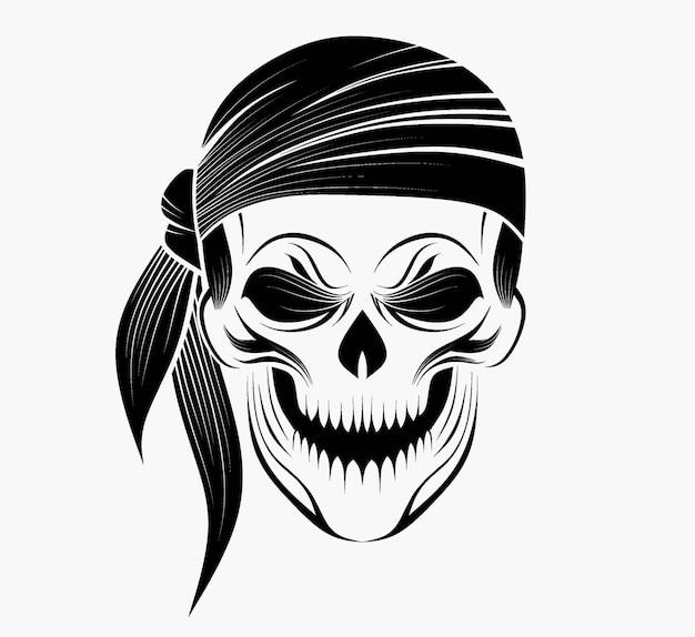 Styliz d'un crâne dans le style de zentangle.