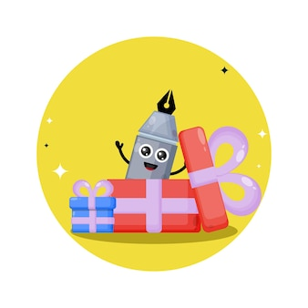 Stylo cadeau logo de personnage mignon