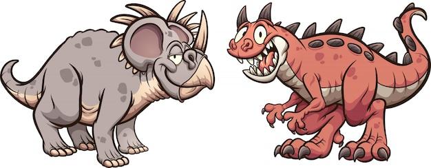 Styracosaurus et carnotaurus