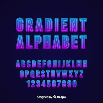Stytle dégradé modèle alphabet décoratif