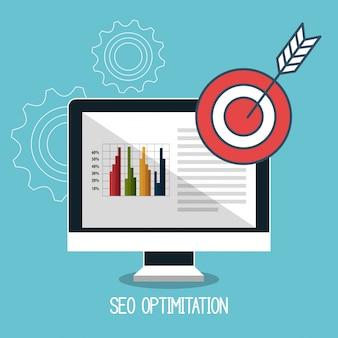 Succès d'affaires d'optimisation de moteur de recherche