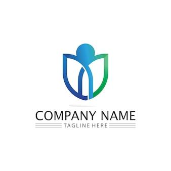 Succes Personnes Logo Travail D'équipe Marque Et Logo D'entreprise, Communauté Vectorielle, Unité Colorée Et Amitié, Logo De Soins De Travail D'équipe Partenaire Vecteur Premium