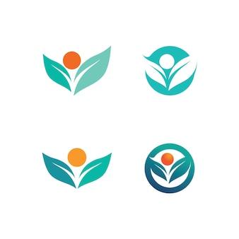 Succes personnes logo travail d'équipe marque et logo d'entreprise, communauté vectorielle, unité colorée et amitié, logo de soins de travail d'équipe partenaire