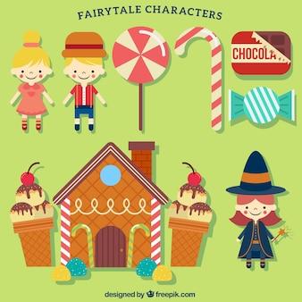 Les sucreries et les personnages de contes de fées
