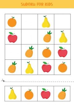 Sudoku pour les enfants. feuille de travail pédagogique pour les enfants.