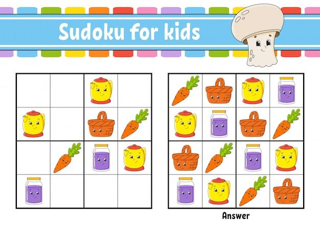 Sudoku pour les enfants. fiche de développement de l'éducation.