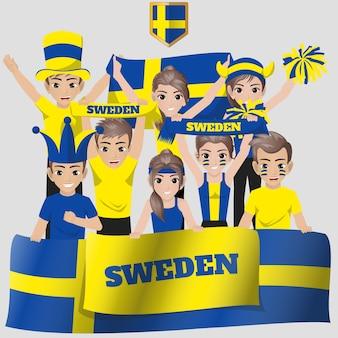 Suède supporter de l'équipe nationale