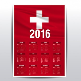 Suisse calendrier 2016