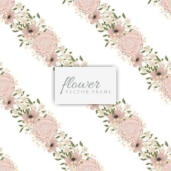 Suite de cartes d'invitation de mariage avec des fleurs. modèle. illustration vectorielle