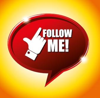 Suivez-moi le thème du réseau social
