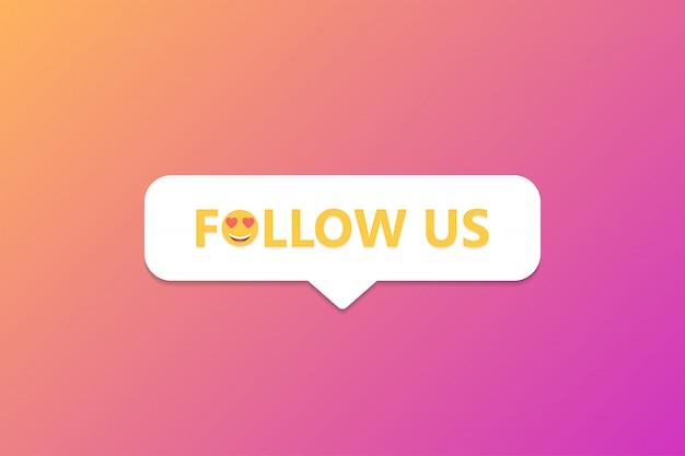 Suivez-nous sur l'icône du bouton