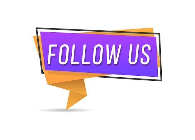 Suivez-nous typographie pour site web, bannière de blog et annonces