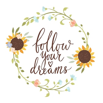 Suivez votre carte de lettrage de rêve