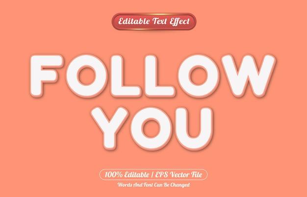Suivez votre modèle de style d'effet de texte modifiable