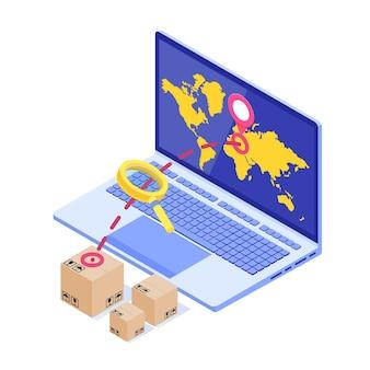 Suivi des commandes en ligne isométrique