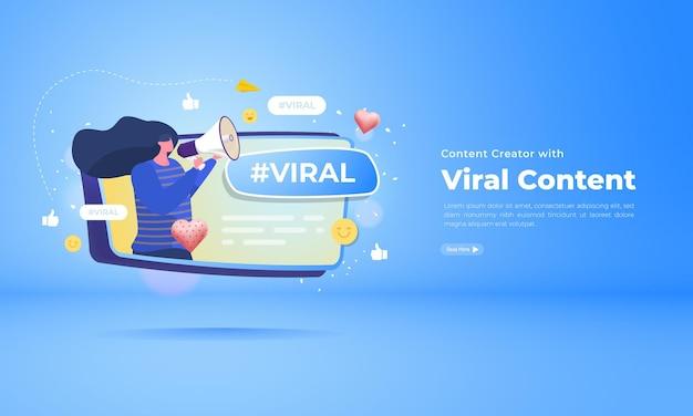 Sujet viral sur le concept de médias sociaux