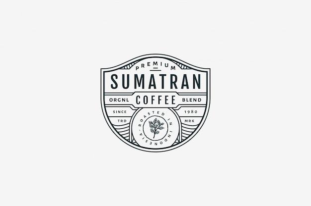 Sumatran premium coffee coffee bw