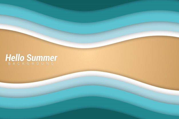 Summer papercut