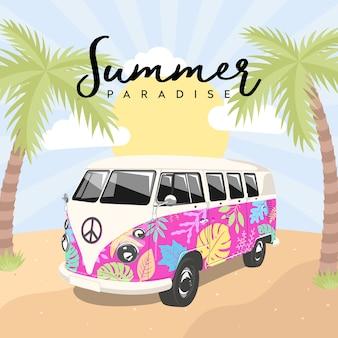 Summer paradise kombi van