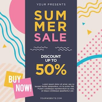 Summer sale post flyer style de memphis