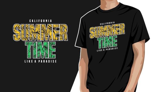 Summer time - t-shirt graphique à imprimer
