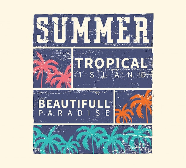 Summer tropical island beautiful paradise