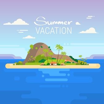 Summer vacation tropical ocean island