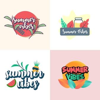 Summer vibes illustration design