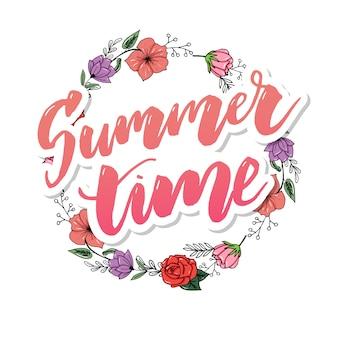 Summer vintage floral
