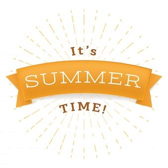 Summertime relax bannière plat