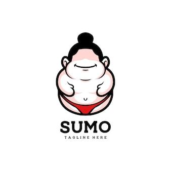 Sumo mignon japon asiatique homme sport heureux graisse