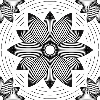 Sun flower line art backgorund monochrome