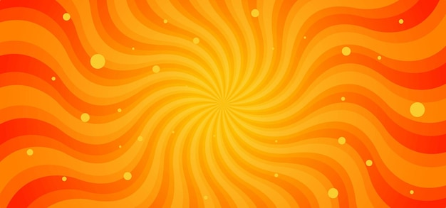 Sunburst vagues rayons abstrait fond