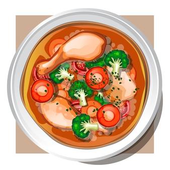 Sup ayam (soupe de poulet)