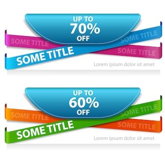 Super bannière de vente enregistrée -60%, -70% de réduction