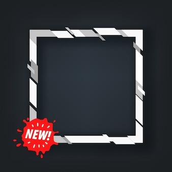 Super bannière de vente pour un texte avec le cadre carré