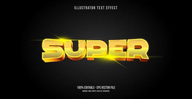 Super effet de texte, style de texte modifiable