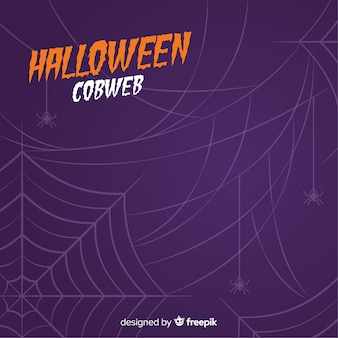 Super fond d'halloween avec une toile d'araignée