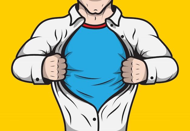 Super-héros de bande dessinée déguisée