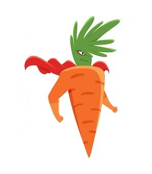 Super-héros de carottes