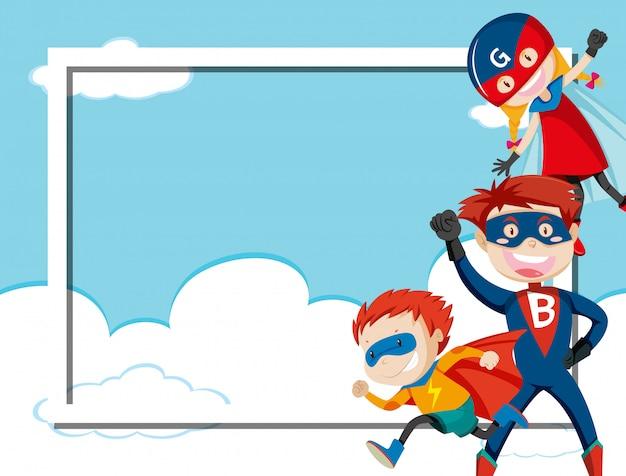 Super héros sur le ciel