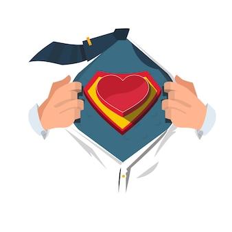 Super héros avec coeur.