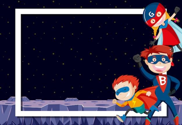 Super-héros dans l'espace