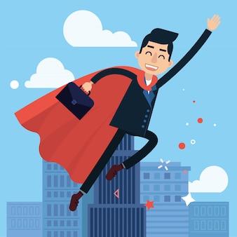 Super-héros homme d'affaires