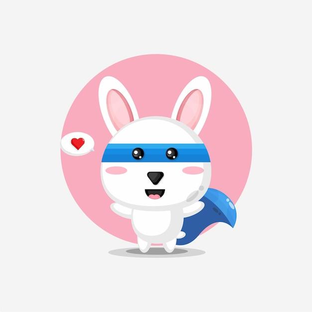 Super-héros de lapin mignon