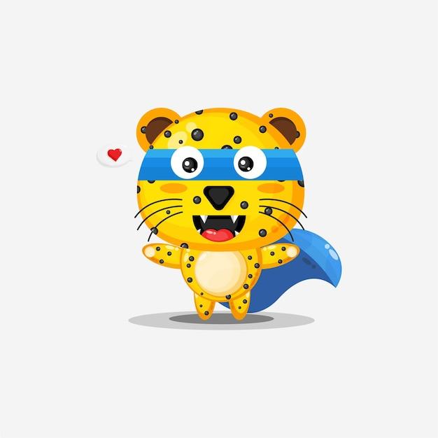 Super-héros léopard mignon